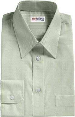 Narrow Green Pinstripe Dress Shirt