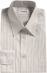 Grey Pinstripe Dress Shirt