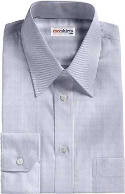 Lt. Blue Narrow Pinstripe Dress Shirt