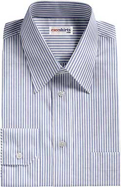 Lt. Blue Deluxe Pinstripe Dress Shirt