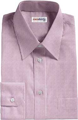 Purple Narrow Pinstripe Dress Shirt