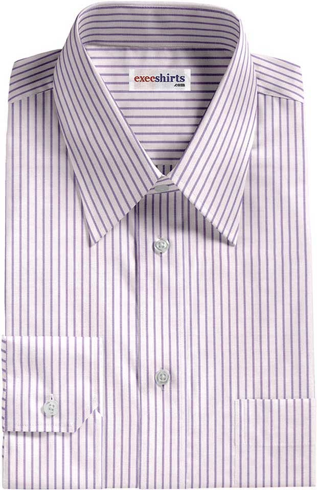 Purple Pinstripe Dress Shirt