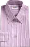 Purple Deluxe Pinstripe Dress Shirt