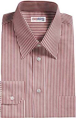 Red Pinstripe Dress Shirt