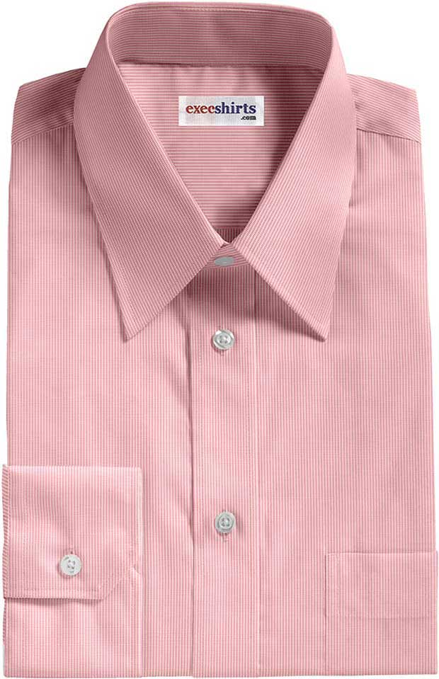 Pink Birdeye Pinpoint Dress Shirt