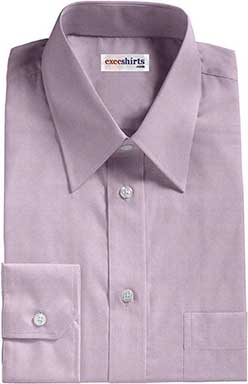 Purple Pinpoint Dress Shirts