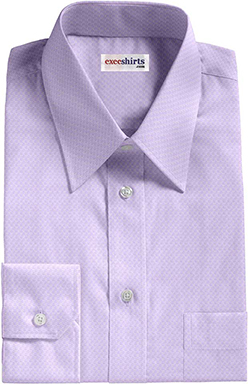 Purple Checked Weave Dress Shirt