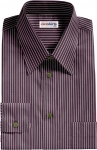 Purple/White Pinstripe Dress Shirt
