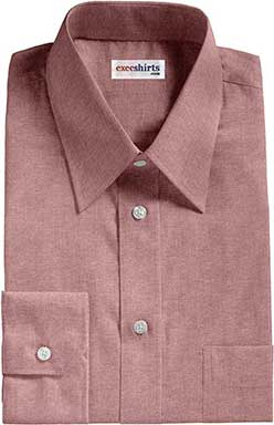 Red Oxford Dress Shirt