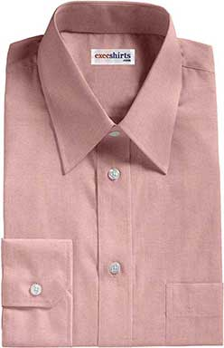 Red Pinpoint Dress Shirt