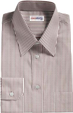Brown Pinstripe Dress Shirt