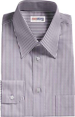 Navy Deluxe Pinstripe Dress Shirt