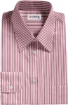 Red Deluxe Pinstripe Dress Shirt