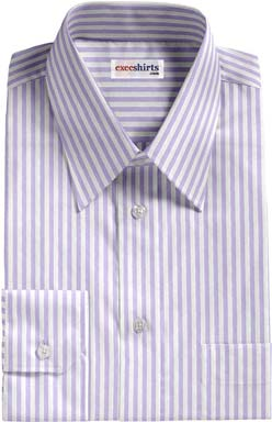 Purple Large Pinstripe Dress Shirt