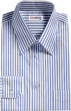 Blue Large Pinstripe Dress Shirt