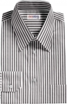 Black Large Pinstripe Dress Shirt