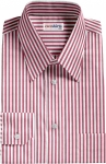 Red Large Pinstripe Dress Shirt