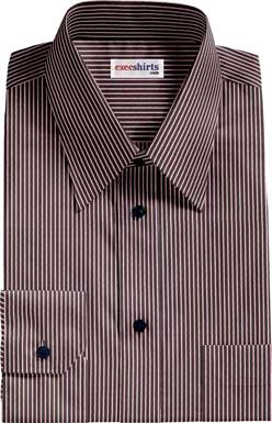 Black-Pink Striped Dress Shirt