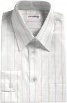 Pink-Gray Striped Dress Shirt