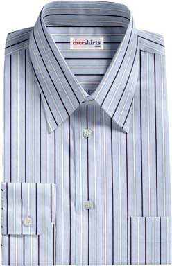 Blue-White Striped Dress Shirt