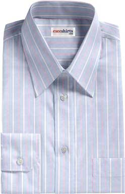 Pink-White Striped Dress Shirt