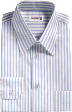 Blue-Pink Striped Dress Shirt