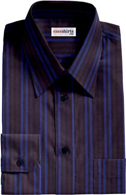 Blue-Blue Striped Dress Shirt