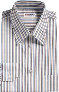 Blue-Black Striped Dress Shirt