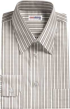 Grey-Black Striped Dress Shirt