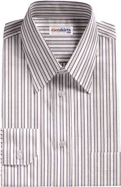 Purple-Black Striped Dress Shirt