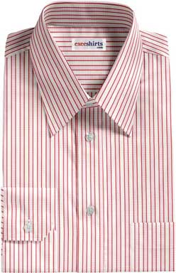 Pink-Red Striped Dress Shirt