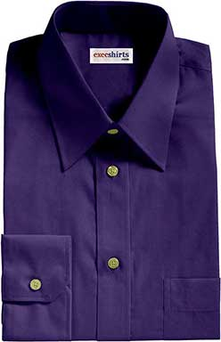 Royal Blue Broadcloth Dress Shirts