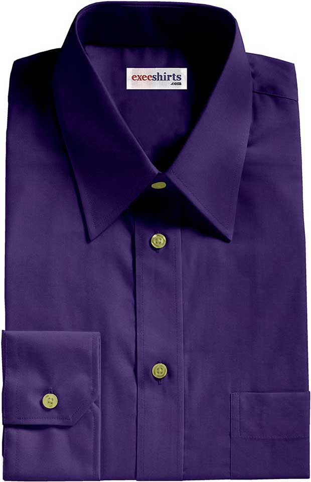 Royal Blue Broadcloth Dress Shirt