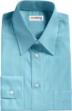 Light Green Shirt With White Pinstripes