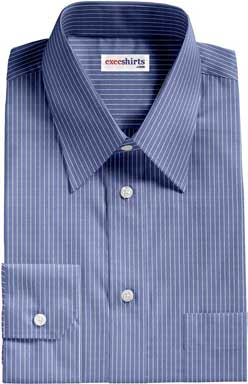 Blue Shirt With White Pinstripes