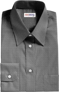 Black Shirt With White Pinstripes