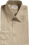 Narrow Brown Pinstripe Dress Shirt