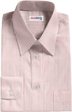 Light Red Men's Checked Shirt
