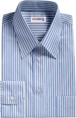 Light Blue-White Striped Dress Shirt