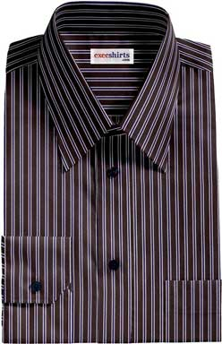 Black-Blue Striped Dress Shirt
