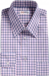Pink-Blue Checked Dress Shirt