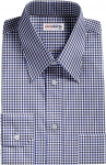 Blue-Black Checked Dress Shirt