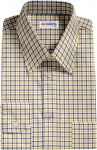 Blue-Yellow Checked Dress Shirt