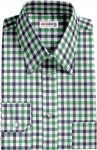 Blue-Green Large Checked Dress Shirt