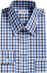 Navy-Blue Large Checked Dress Shirt