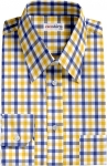 Blue-Yellow Large Checked Dress Shirt