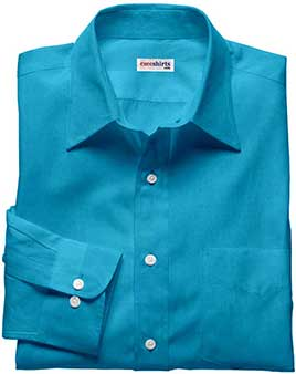 Men's Aqua Silk Shirt