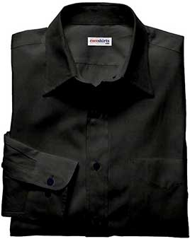 Men's Black Silk Shirt