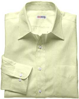 Men's Cream Silk Shirt