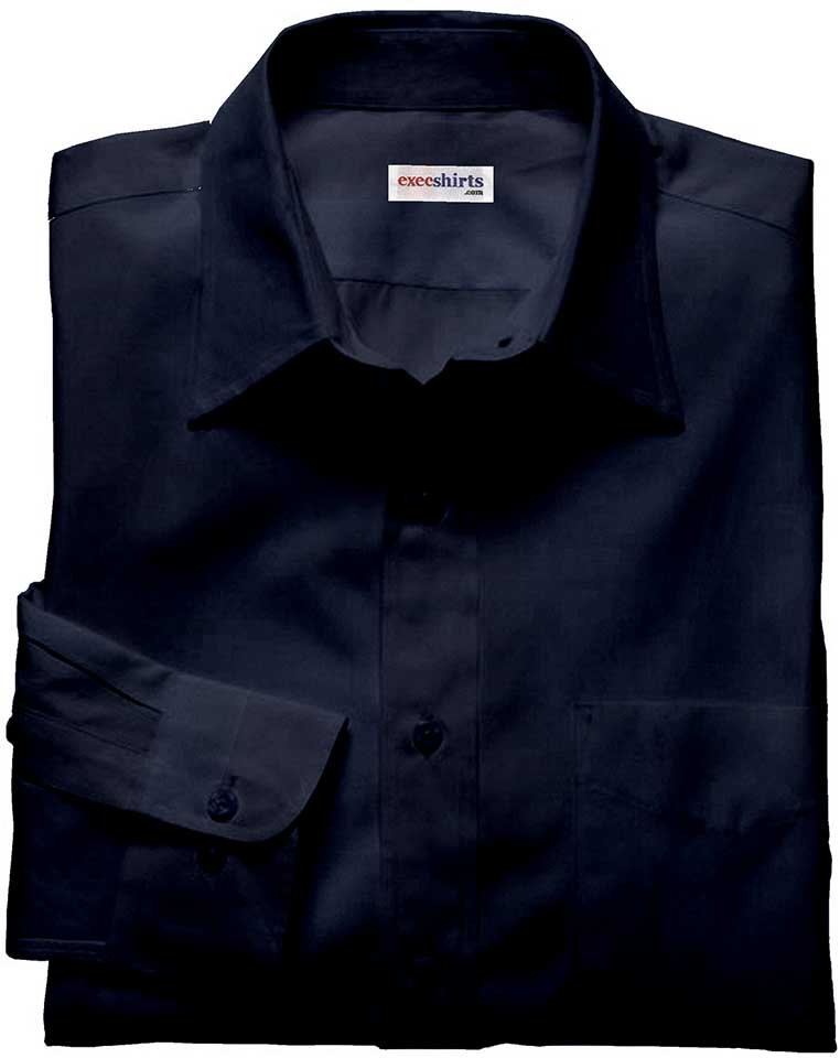 Dark Blue Silk Shirt